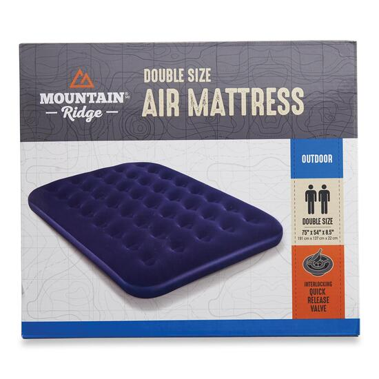 Mountain Ridge Flocked Air Bed - Double