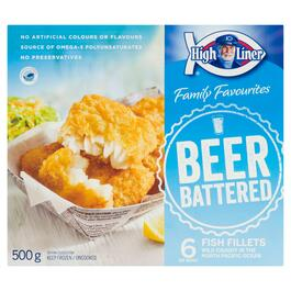 High Liner Family Favourites Beer Battered Fish Fillets - 500g