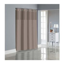Hookless Dobby Texture Shower Curtain with PEVA Liner - Desert Taupe