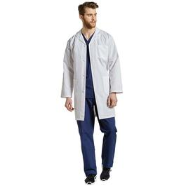 White Cross Men's Big Guy Three-Pocket Button Front Lab Coat - 2XL