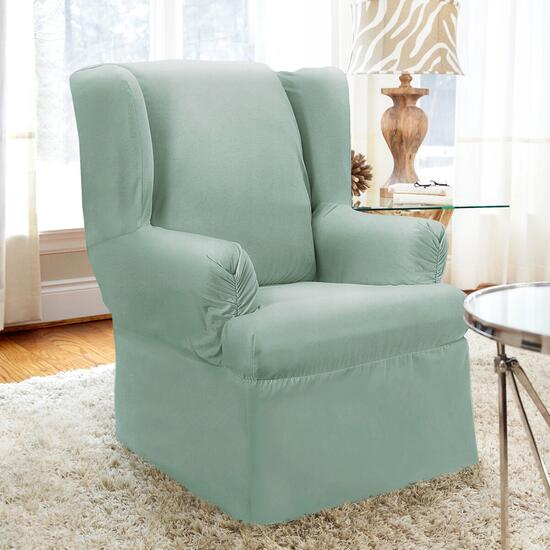 surefit¬ô Twill Wing Chair Slipcover