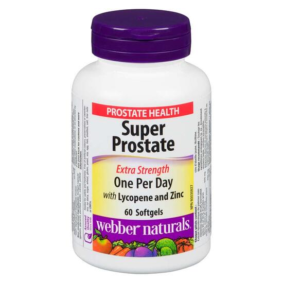 Webber Naturals Extra Strength Super Prostate - 60 Softgels