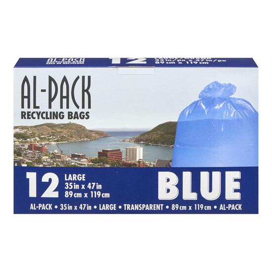 Al-Pack Blue Recycling Bags - 12pk.