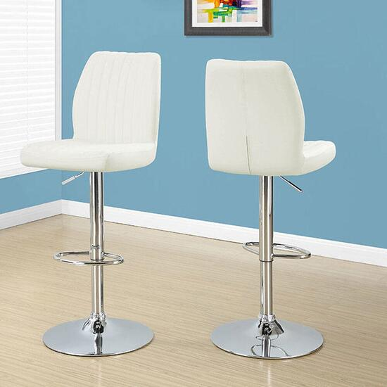 Monarch Specialties Inc. Barstools White - 2pc.