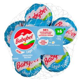 Mini Babybel Light Dairy Snack 13% M.F. 6pk. - 20g