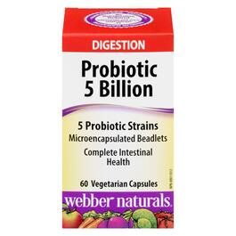 Webber Naturals Probiotic 5 Billion - 60 Vegetarian Capsules