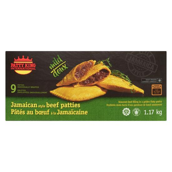 Patty King International Jamaican Style  Mild Beef Patties - 1.17kg