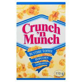 Crunch 'n Munch Buttery Toffee Popcorn with Peanuts - 113g