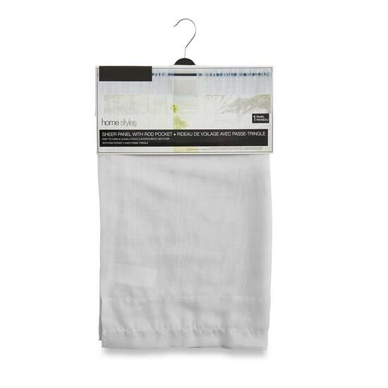 HomeStyles White Sheer Curtain - 96in.