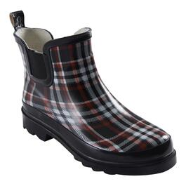 mySTYLE Women's Plaid Ankle Rain Boots - 6-10