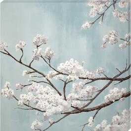 White Blossom Canvas Art - 24in. x 24in.