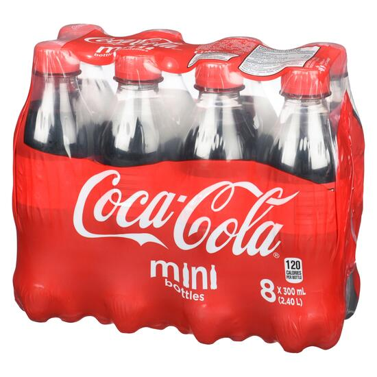 Coca-Cola Coke Mini Bottles 8pk. - 300ml