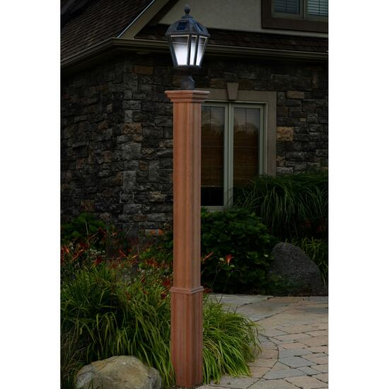 New England Arbors Trinity Composite Lamp Post