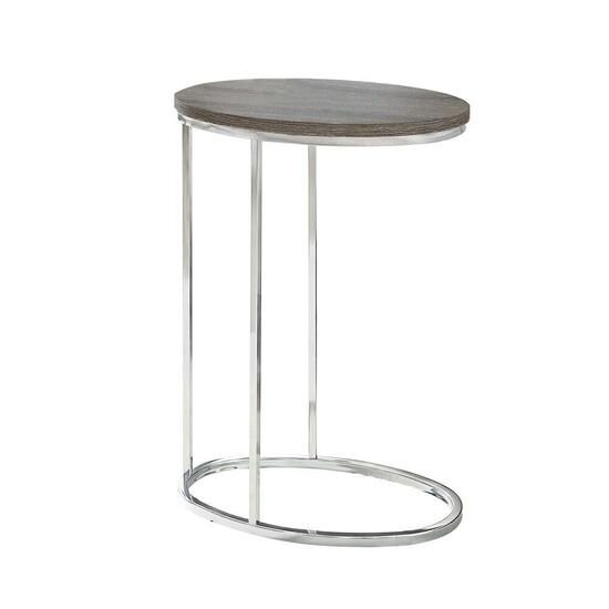 Monarch Specialties Oval Accent Table - Dark Taupe