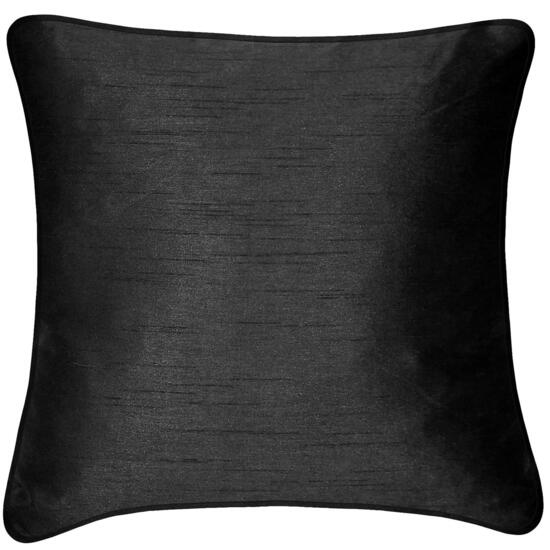 Milano Faux Silk Black Cushion - 18in.