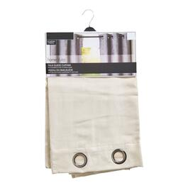 HomeStyles Taupe Faux Suede Curtain Panel - 96in.