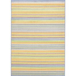 eCarpetGallery Chroma Light Blue Polypropylene Rug - 5.5ft.x7.9ft.