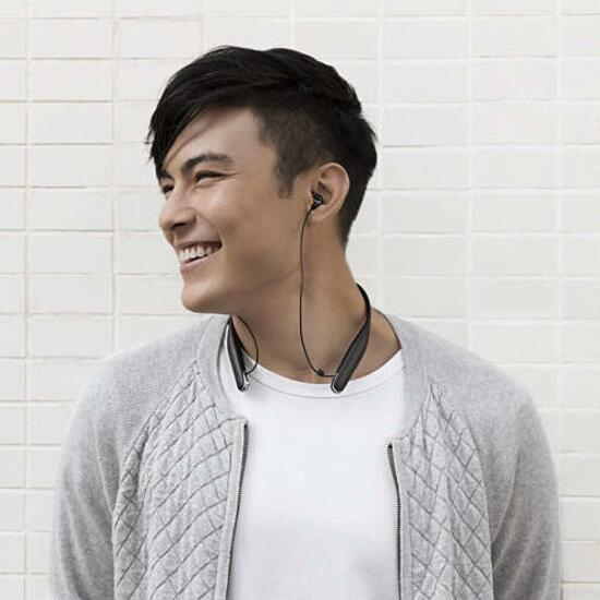Philips Bluetooth Black Wireless Headphones with Neck Support