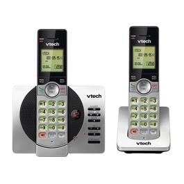 VTech 2-Handset DECT 6.0 Cordless Phones with Answering Machine and Caller ID/Call Waiting - Silver
