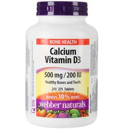 Webber Naturals Calcium Carbonate with Vitamin D3 Bonus Size - 275 Tablets