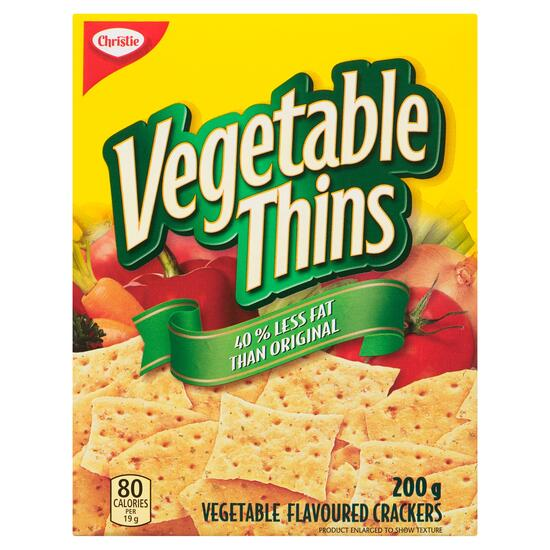 Christie Vegetable Thins Crackers - 200g
