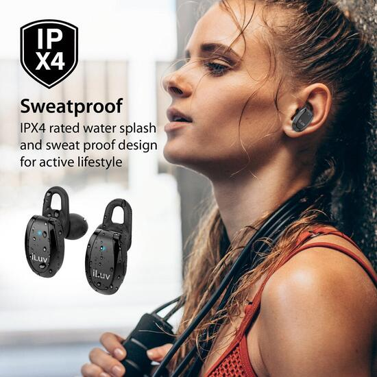 True Wireless In-Ear Fitness Earbuds with 20 Hour Charging Case