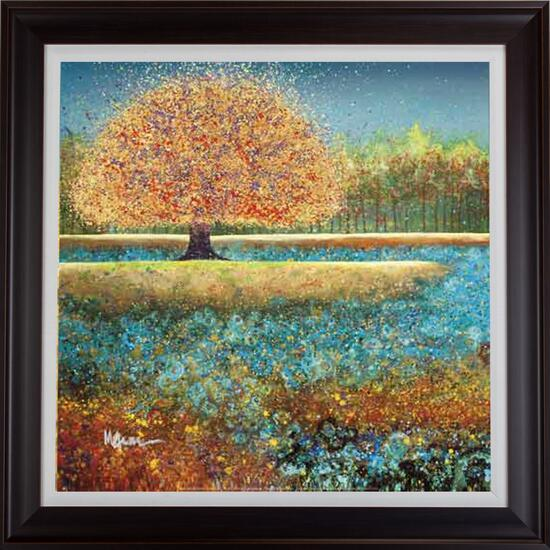 Jewel River by Melissa Graves-Brown Framed Art - 32in.