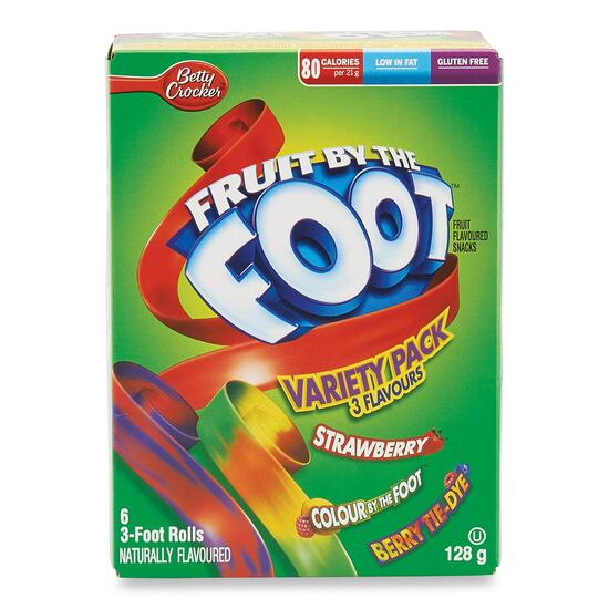 Betty Crocker Fruit by the Foot Variety Pack Fruit Snack 6pk. - 128g