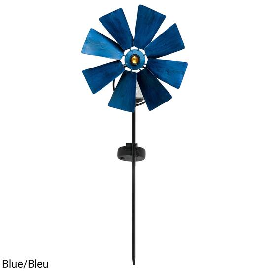 Fusion Solar Metal Windmill Stick Light with Glass Ball