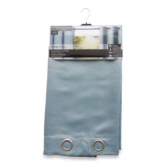 HomeStyles Light Blue 100% Blackout Curtain Panel - 96in.