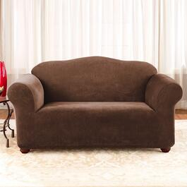 Surefit Stretch Piqué - Chocolate Slipcover for Loveseat - 1pc.
