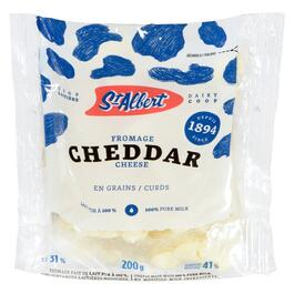 St-Albert Dairy Coop White Cheddar Cheese Curds 31% M.F. - 200g