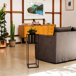 Truu Design Black Cubic Floor Planter with Frame - 26in.