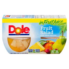 Dole Fruit Salad with Extra Cherries 4pk. - 428 ml