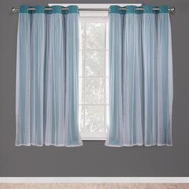 Exclusive Home Catarina Layered Blackout Curtain Panel 2pc. - 63in.