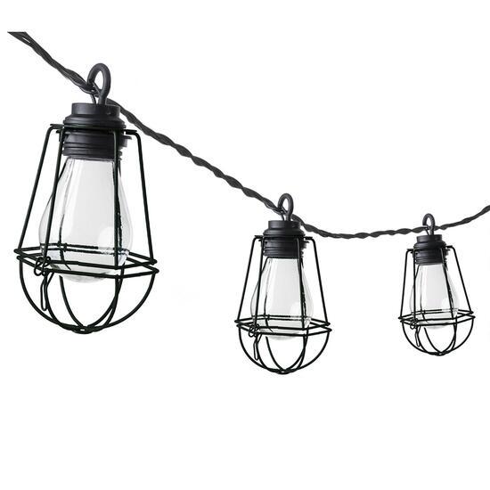 Paradise String Light Vintage Bulbs with Cage - 10 LED Bulbs