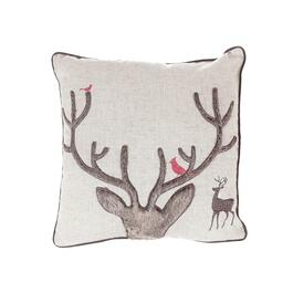 Antlers Throw Pillow - 18in.