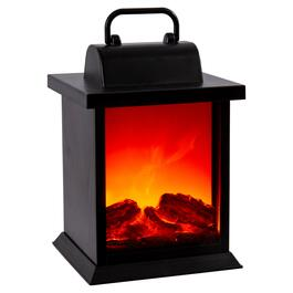 Truu Design Black LED Flame Lantern with Handle - 10in.