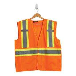Tradesmax Pro Orange High Visibility Safety Vest - L-XL