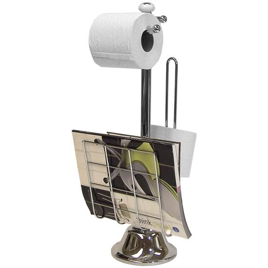 Round Base Magazine and Toilet Paper Holder