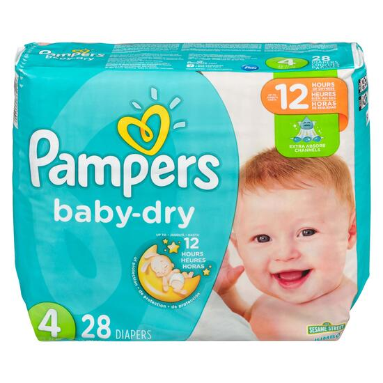 Pampers Baby-Dry Size 4 Diapers - 28pk.