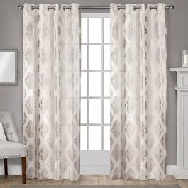 Exclusive Home Augustus Metallic Light Filtering Curtain Panel 2pc. - 96in.