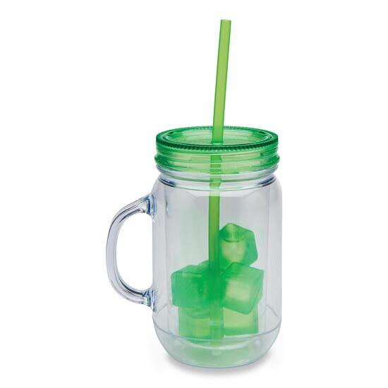 Mason Mug with Ice Cubes
