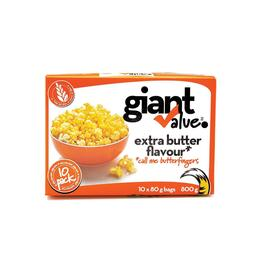 Giant Value Extra Butter Popcorn 10pk. - 800g