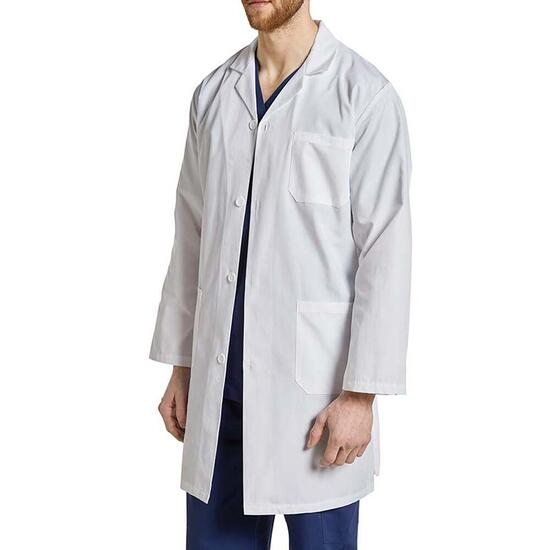 White Cross Men's Three-Pocket Button Front Lab Coat - XS-XL