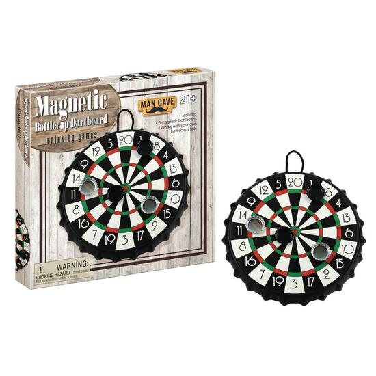 Man Cave Magnetic Bottlecap Dartboard