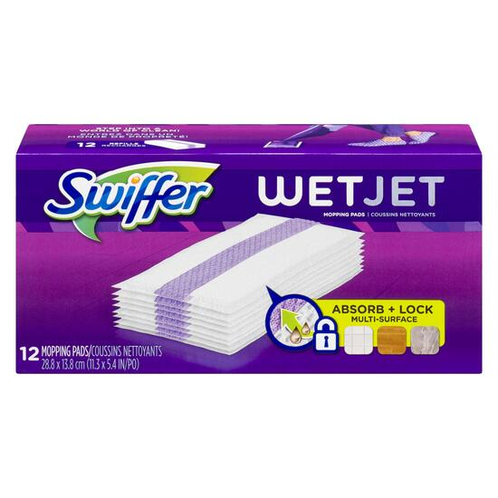 Swiffer Wet Jet Hardwood Floor Spray Mop Pad Refills - 12pk.
