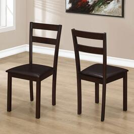 Monarch Specialties Inc. Cappuccino Dining Chair - Set of 2