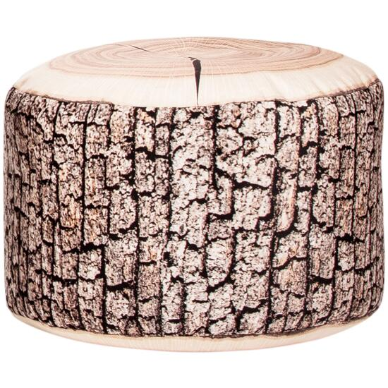 Gouchee Sitting Point Dotcom Wood Beanbag Ottoman