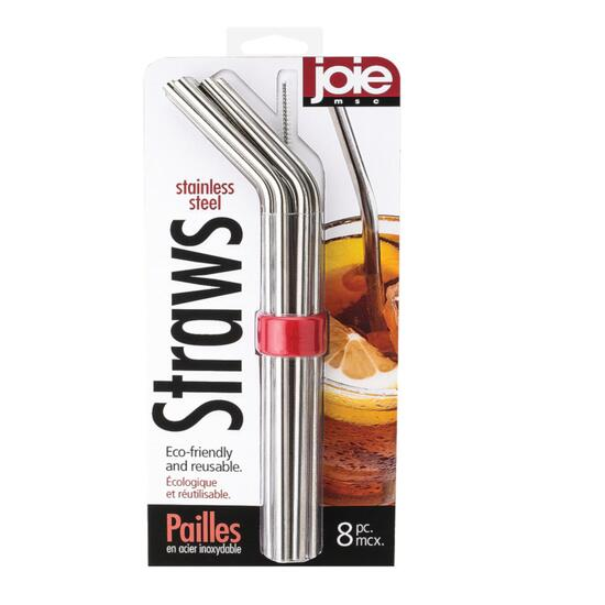 Joie Stainless Steel Straws - 8pc.